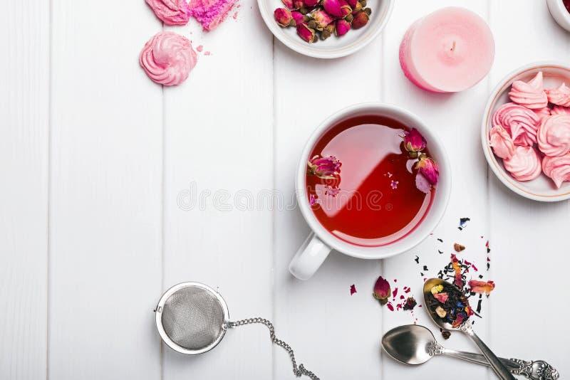 Aftreksel met rozen stock fotografie