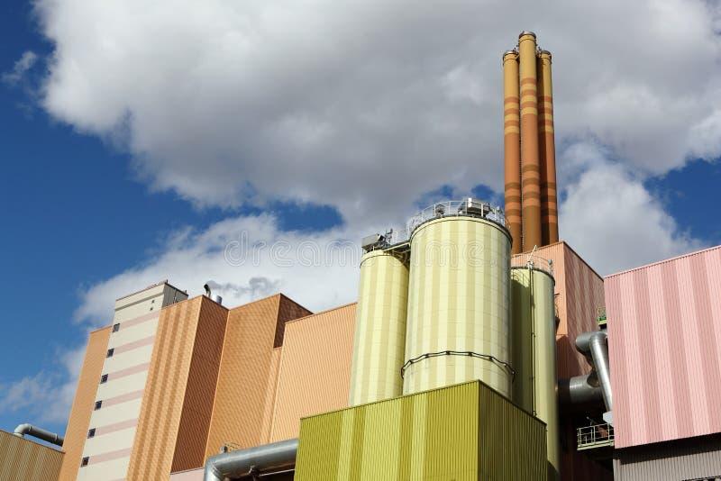 Afval-aan-energie installatie royalty-vrije stock afbeeldingen