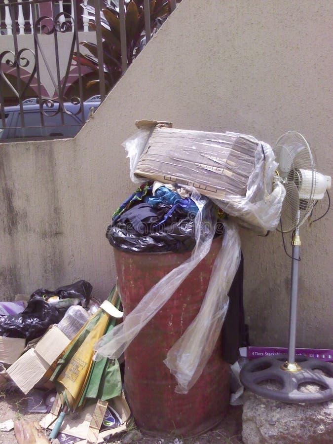 Afval-bak stock foto