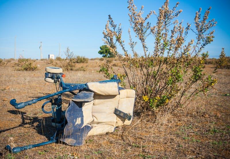 Afval in Sloppenwijk stock foto