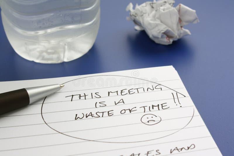 Afval van Tijd stock afbeelding