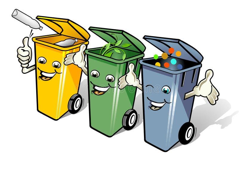 Afval weg vector illustratie