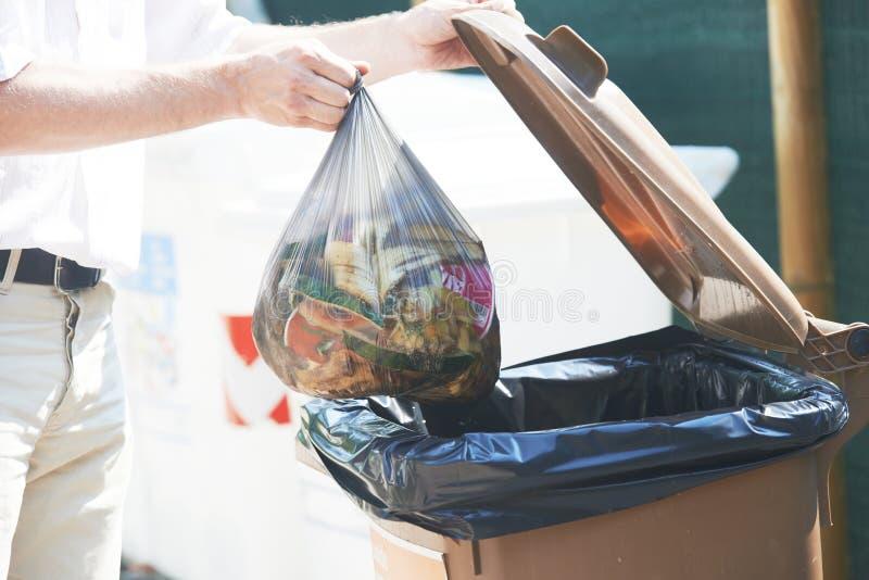 Afvalhuisvuil afzonderlijk gebruik en recycling royalty-vrije stock foto's