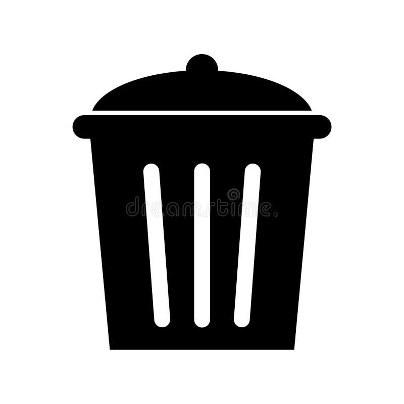 Afvalpictogram voor knoop app, software, website en waarschuwingsraad stock illustratie