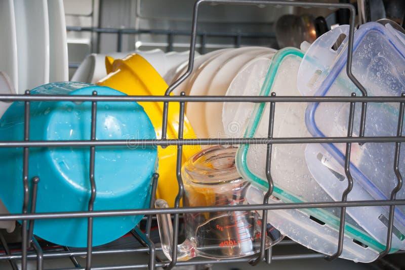 Afwasmachine binnen stock afbeelding