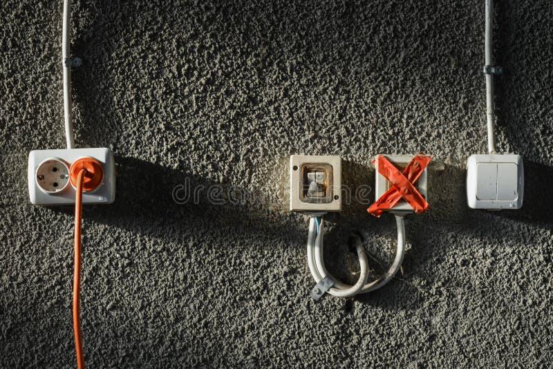 Afzet en schakelaars royalty-vrije stock foto