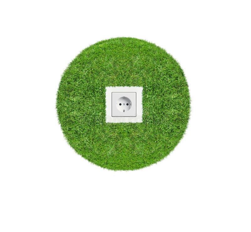 Afzet in groen gras stock foto's