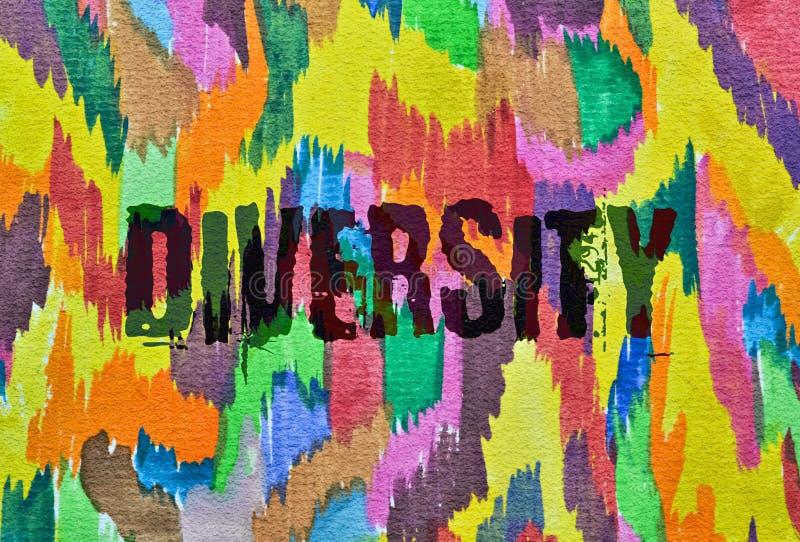 Afzonderlijk woorddiversiteit royalty-vrije illustratie