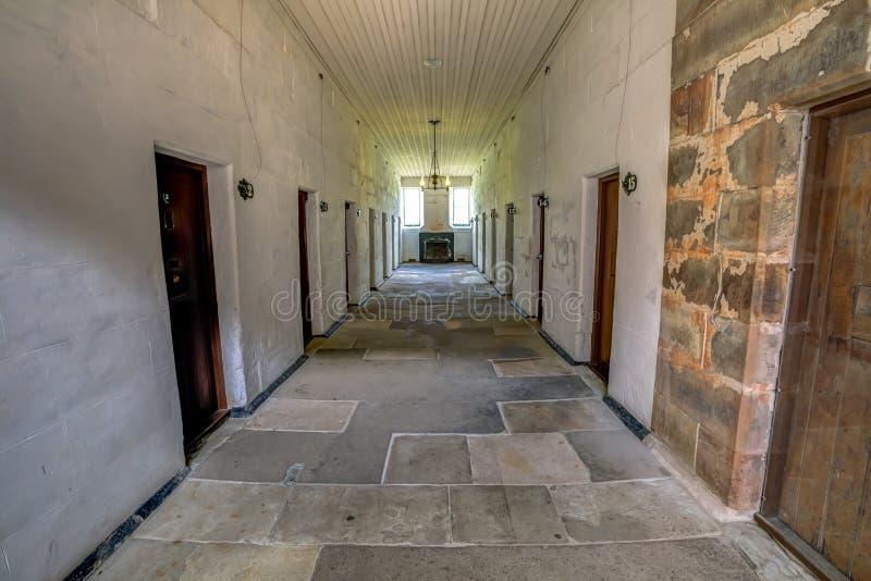 Afzonderlijke Gevangenis in Haven Arthur Tasmania stock afbeeldingen