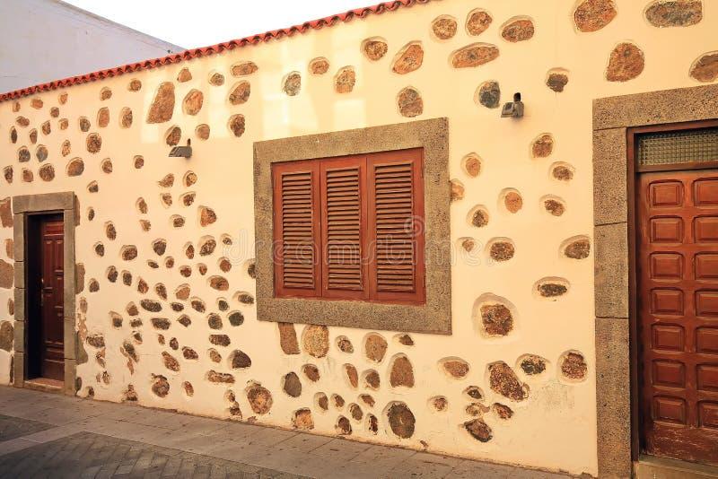Agà ¼ imes是在大加那利岛的一个自治市 库存照片
