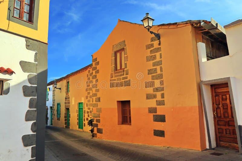 Agà ¼ imes是在大加那利岛的一个自治市 库存图片