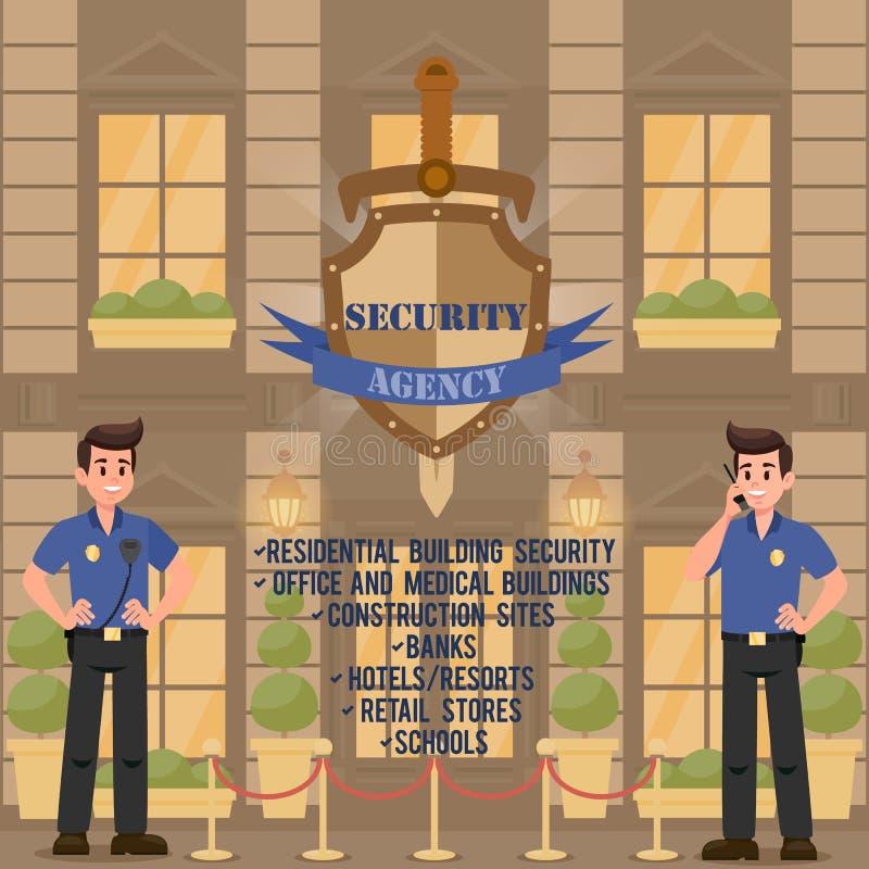 Agência de segurança Ilustração do vetor ilustração do vetor