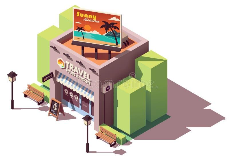 Agência de viagens isométrica do vetor ilustração stock