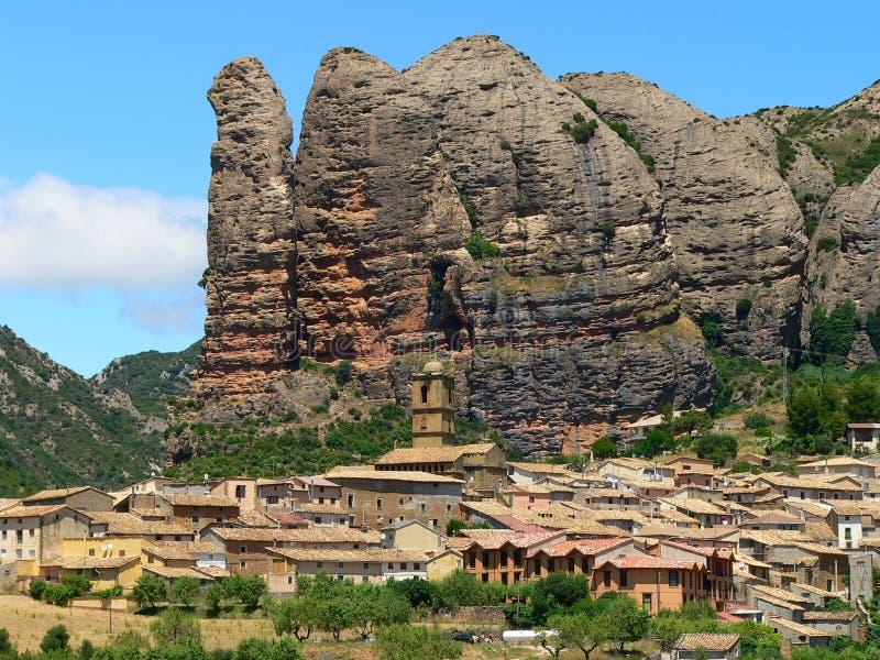 Agüero, Huesca (Spagna) immagini stock