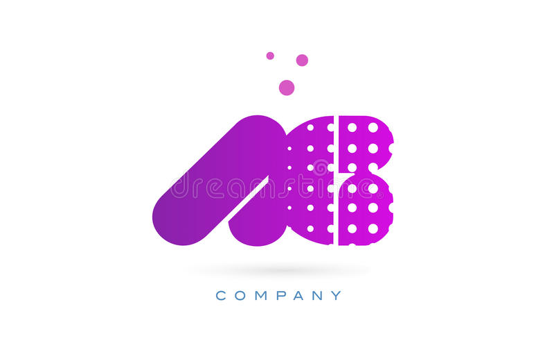 ag a g pink dots letter logo alphabet icon stock vector