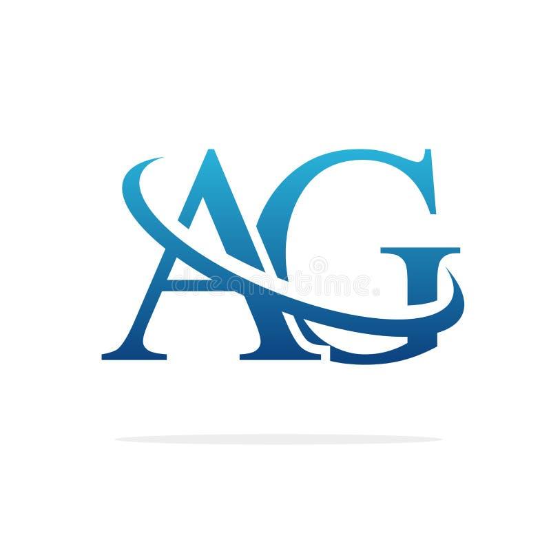 AG het Creatieve vectorart. van het embleemontwerp royalty-vrije illustratie