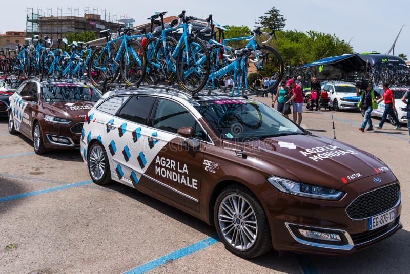 AG2R La Mondiale队汽车 免版税库存图片