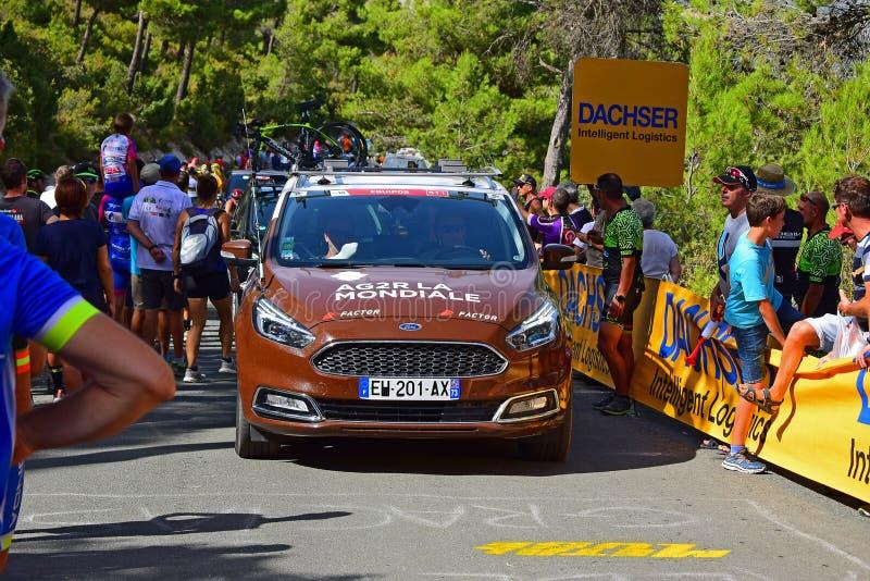 AG2R La Mondiale Team Car At La Vuelta España Cycle Race 2017 stock photo