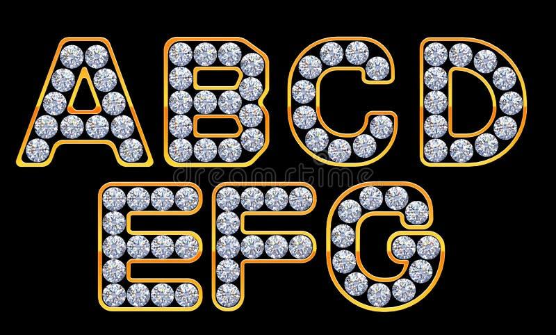 AG-Zeichen incrusted mit Diamanten stock abbildung