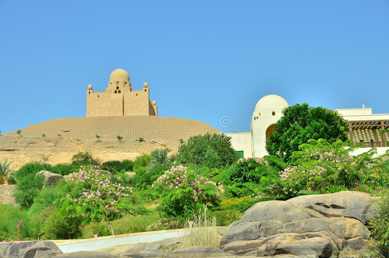 Download Aga Khan mausoleum stock image. Image of tomb, egypt - 21809597