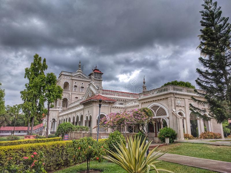 Aga Khan palace. Built in 1982 by Sultan Muhammed shah Aga khan in Pune. It& x27;s served as a prison for Mahatma Gandhi royalty free stock photos