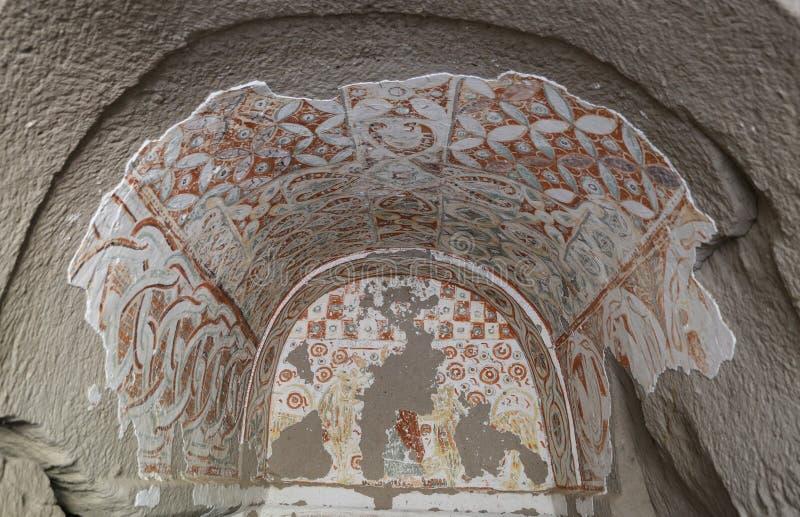 Agacalti-Kirche in Ihlara-Tal, die Türkei lizenzfreies stockfoto