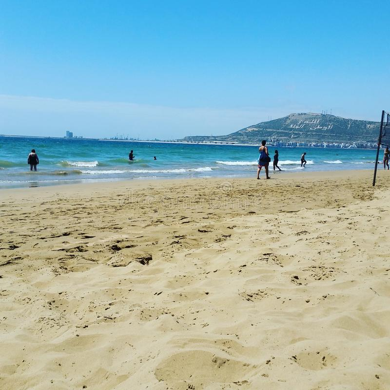 Agadir beach stock photos