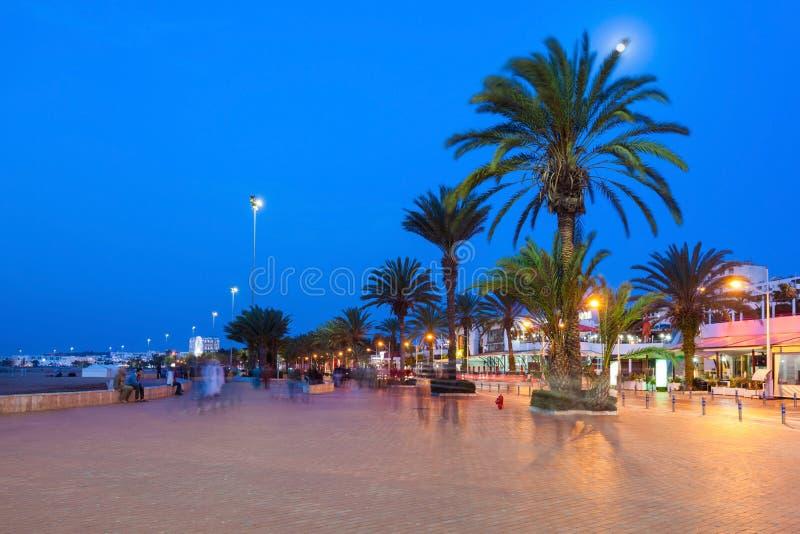 Agadir bij nacht royalty-vrije stock fotografie