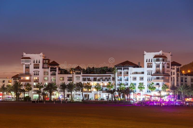 Agadir la nuit photos libres de droits