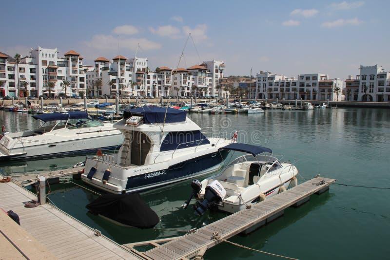 Agadir Marina, Marocko royaltyfria foton