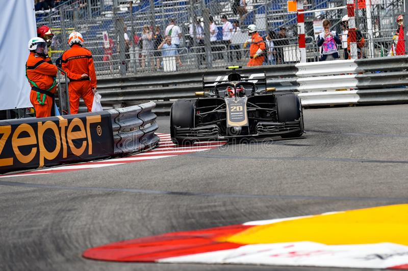 Agains #20 Kevin MAGNUSSEN die Sperren am Pool Chicane stockfoto