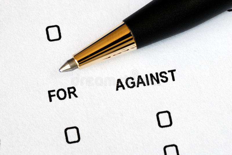 Download For Or Against Concepts Of Making A Decision Stock Photo - Image: 19886660