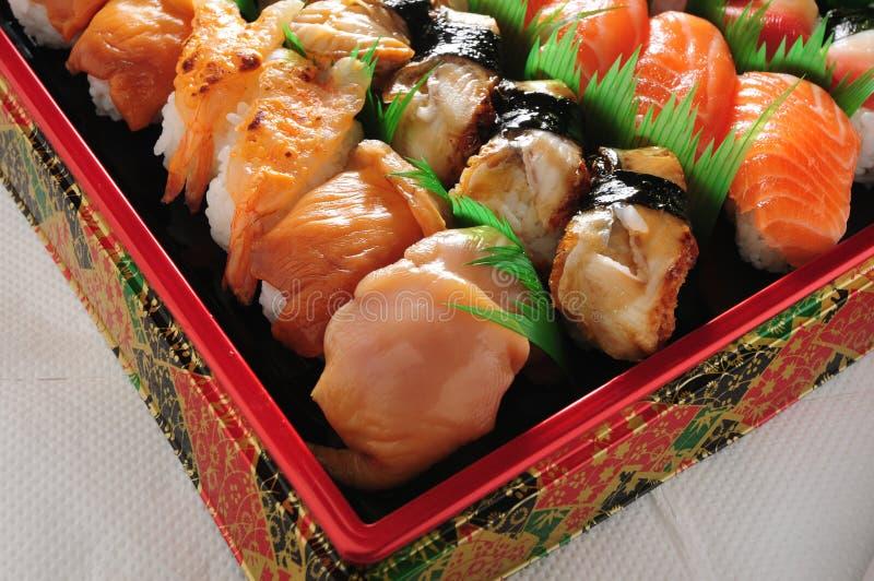 Agakai eel Sushi. Japanese Agakai Eel Sushi platter stock photo
