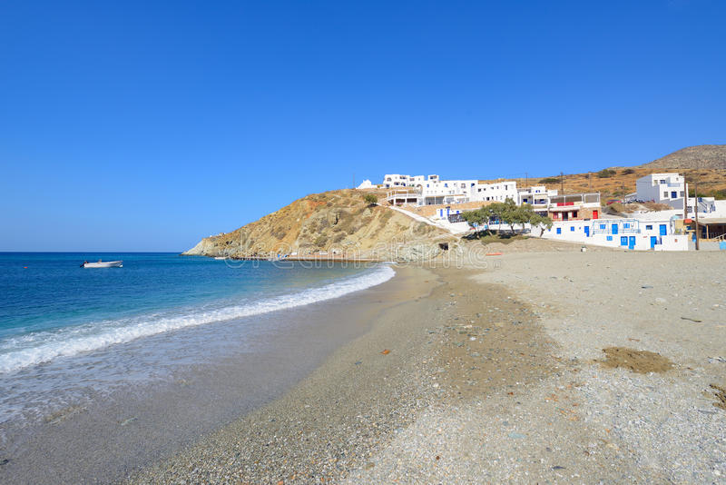 Agali beach at folegandros island. Beautiful island of folegandros - Greece stock images