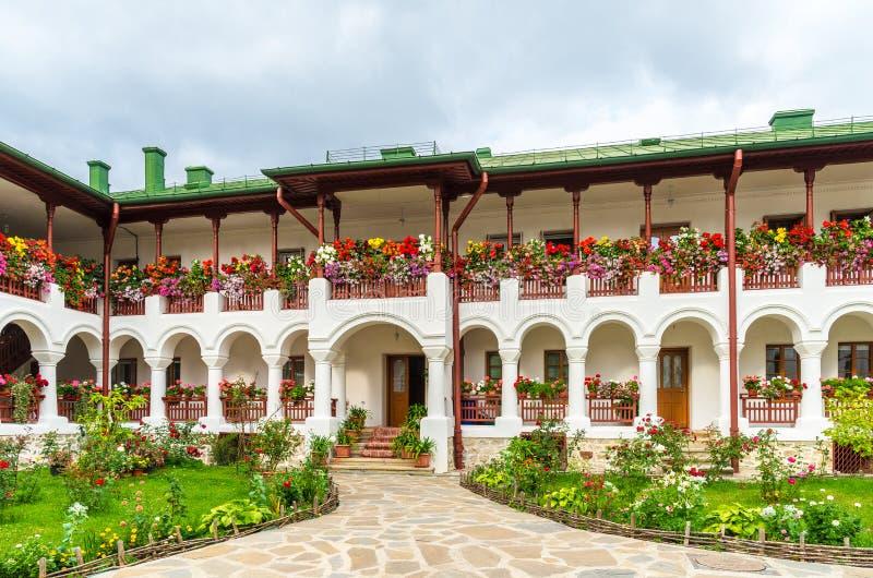 Agapia东正教修道院,Agapia镇,摩尔达维亚,罗马尼亚 免版税库存图片