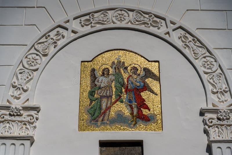 AGAPIA MOLDOVIA/ROMANIA - SEPTEMBER 19: Yttre sikt av Agapi royaltyfri bild