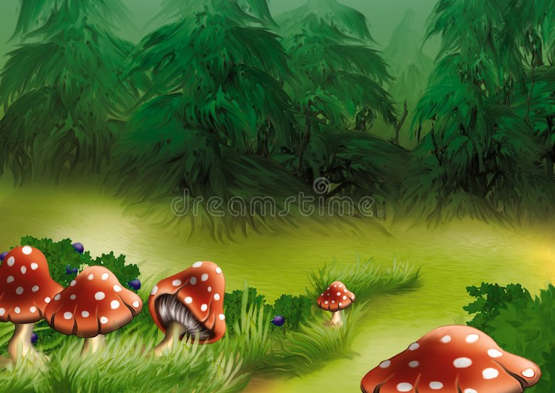 agaricsfluga royaltyfri illustrationer
