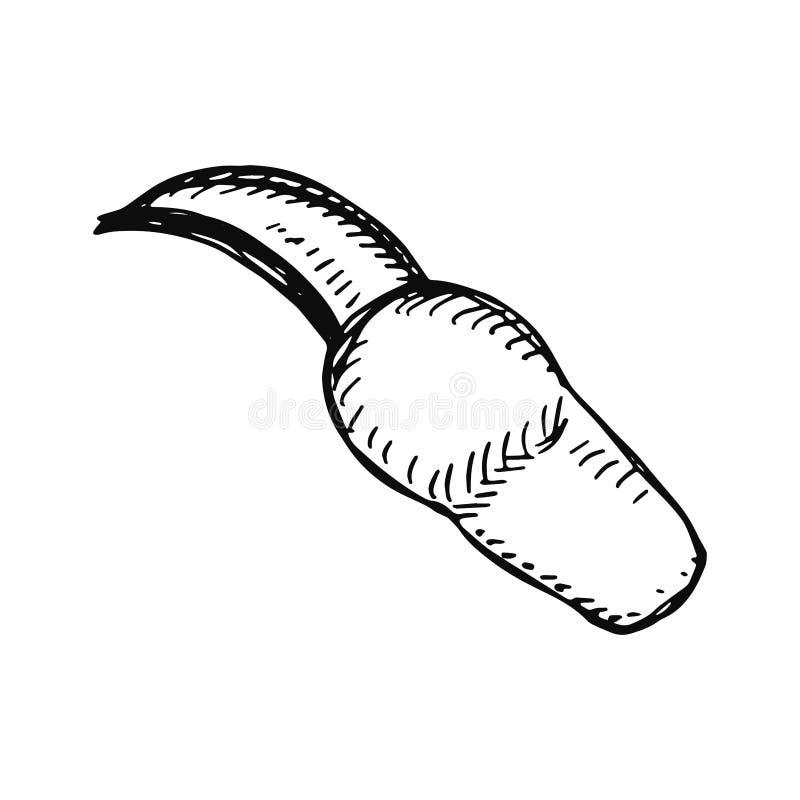 Agarre el bosquejo aislado negro en el vector blanco del fondo stock de ilustración