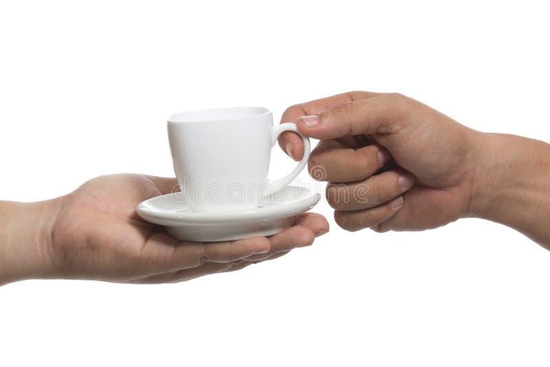 Download Mão e uma chávena de café foto de stock. Imagem de caneca - 29839394