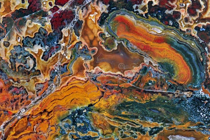 Agat z naturalnymi kolorami zdjęcia stock