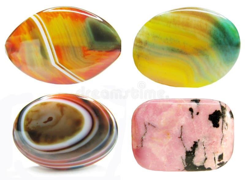 Agata con il cristallo geologico del chalcedony immagine stock