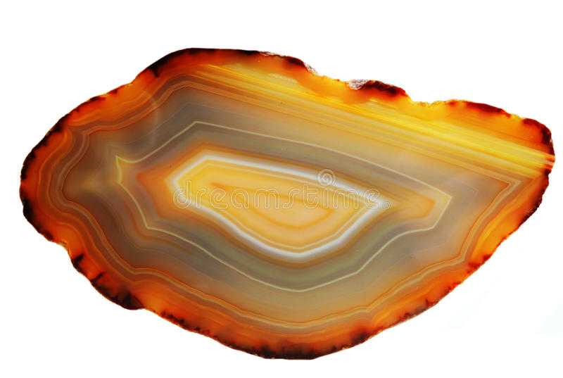 Agata con il cristallo geologico del chalcedony fotografia stock
