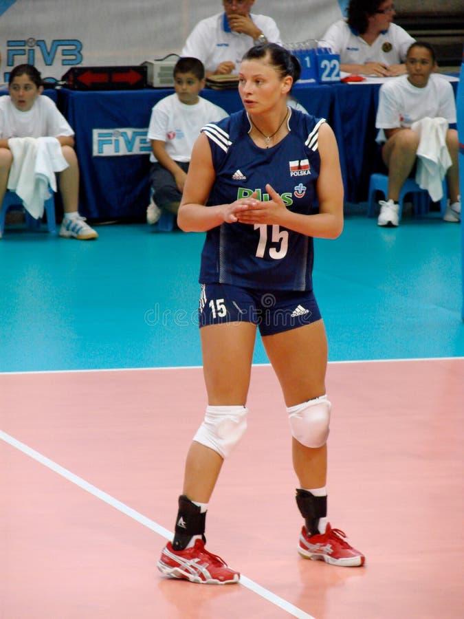 Agata Sawicka, polnisches Volleyballteam stockbild
