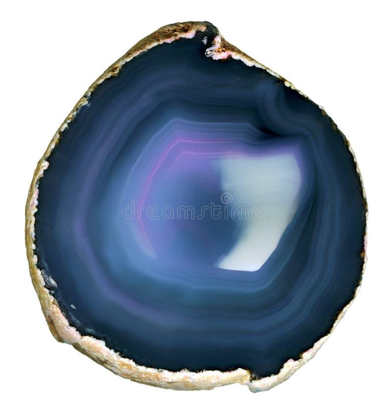 Agata traslucida della fetta. immagine stock libera da diritti