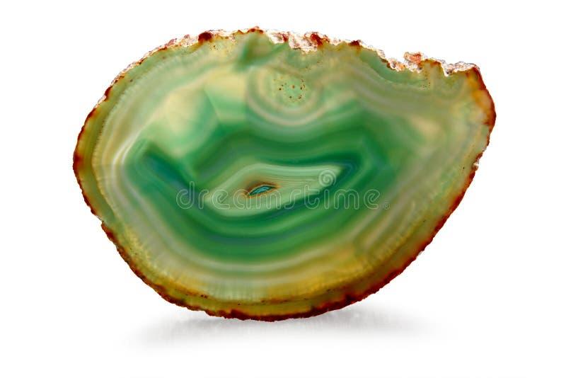 Agata verde - percorso di residuo della potatura meccanica immagini stock
