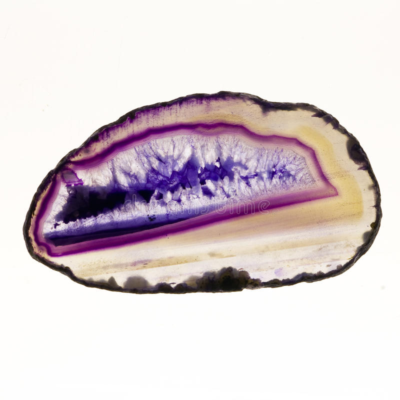 Agate. Gemstone structure shoot from lightsource royalty free stock images