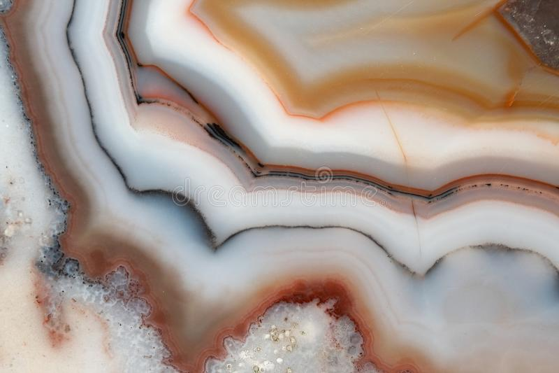 Agate With Amethyst stock photo