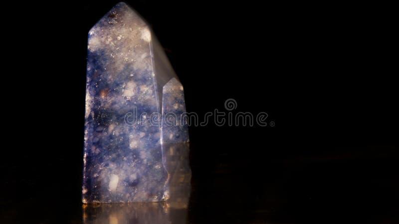 Agate bleue - cristal images stock
