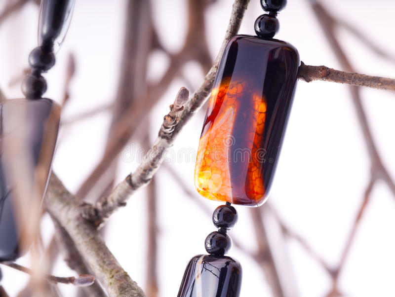 Agate collar stock photo