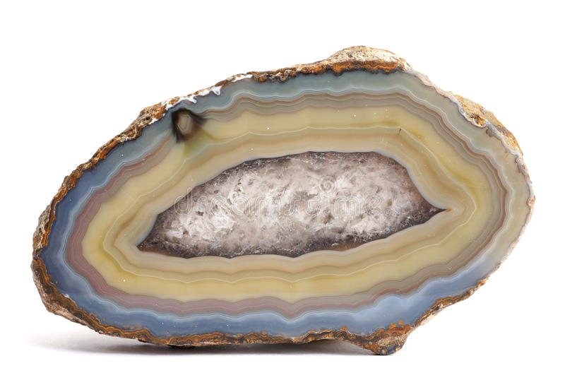 Agate crystal mineral from Mexico stock photography